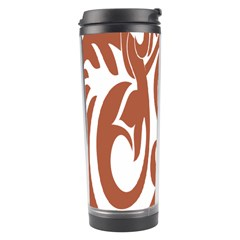 Sign Red Polka Travel Tumbler by Mariart