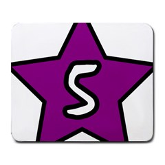 Star Five Purple White Large Mousepads by Mariart