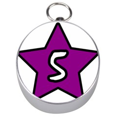 Star Five Purple White Silver Compasses by Mariart