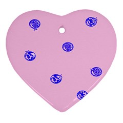 Star Space Balloon Moon Blue Pink Circle Round Polkadot Ornament (heart) by Mariart