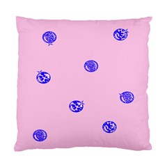Star Space Balloon Moon Blue Pink Circle Round Polkadot Standard Cushion Case (two Sides) by Mariart