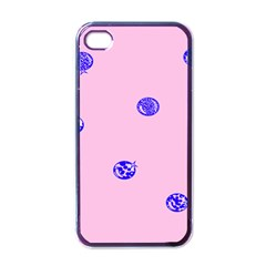 Star Space Balloon Moon Blue Pink Circle Round Polkadot Apple Iphone 4 Case (black) by Mariart