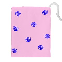 Star Space Balloon Moon Blue Pink Circle Round Polkadot Drawstring Pouches (xxl) by Mariart