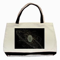 Space X Circle Line Black Basic Tote Bag (two Sides) by Mariart