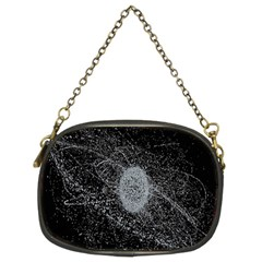 Space X Circle Line Black Chain Purses (two Sides)  by Mariart