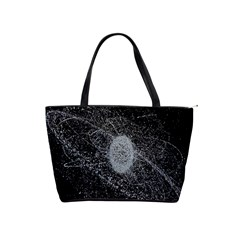 Space X Circle Line Black Shoulder Handbags by Mariart