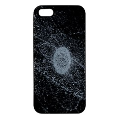 Space X Circle Line Black Apple Iphone 5 Premium Hardshell Case by Mariart