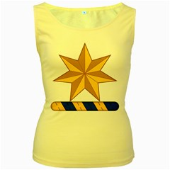 Star Yellow Blue Women s Yellow Tank Top