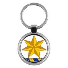 Star Yellow Blue Key Chains (round)  by Mariart