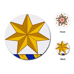 Star Yellow Blue Playing Cards (round)  by Mariart