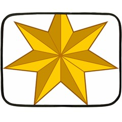 Star Yellow Blue Double Sided Fleece Blanket (mini)