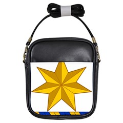 Star Yellow Blue Girls Sling Bags by Mariart