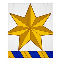 Star Yellow Blue Shower Curtain 60  X 72  (medium)  by Mariart