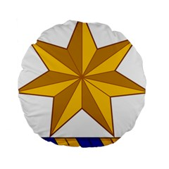 Star Yellow Blue Standard 15  Premium Round Cushions by Mariart