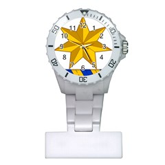 Star Yellow Blue Plastic Nurses Watch by Mariart