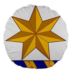 Star Yellow Blue Large 18  Premium Flano Round Cushions by Mariart