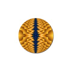 Plaid Blue Gold Wave Chevron Golf Ball Marker (10 Pack) by Mariart