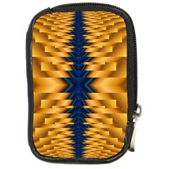 Plaid Blue Gold Wave Chevron Compact Camera Cases by Mariart