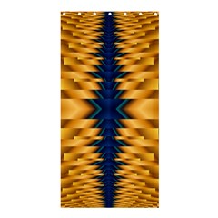 Plaid Blue Gold Wave Chevron Shower Curtain 36  X 72  (stall)