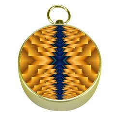 Plaid Blue Gold Wave Chevron Gold Compasses by Mariart