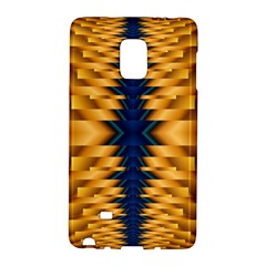 Plaid Blue Gold Wave Chevron Galaxy Note Edge by Mariart