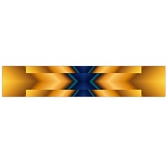 Plaid Blue Gold Wave Chevron Flano Scarf (large) by Mariart
