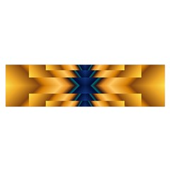 Plaid Blue Gold Wave Chevron Satin Scarf (oblong) by Mariart