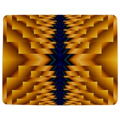Plaid Blue Gold Wave Chevron Jigsaw Puzzle Photo Stand (rectangular) by Mariart