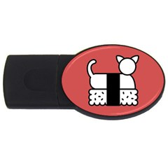 Sushi Cat Japanese Food Usb Flash Drive Oval (4 Gb) by Mariart