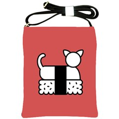 Sushi Cat Japanese Food Shoulder Sling Bags by Mariart