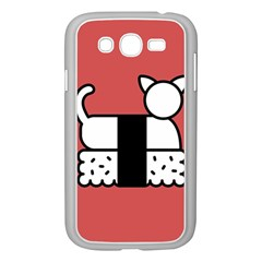 Sushi Cat Japanese Food Samsung Galaxy Grand Duos I9082 Case (white) by Mariart