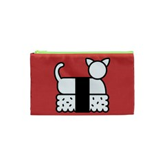 Sushi Cat Japanese Food Cosmetic Bag (xs) by Mariart