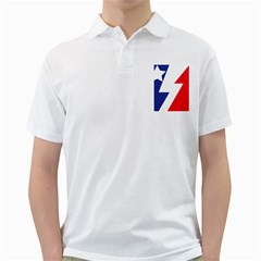 Three Colors Blue White Line Star Golf Shirts by Mariart