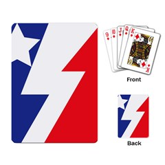 Three Colors Blue White Line Star Playing Card by Mariart