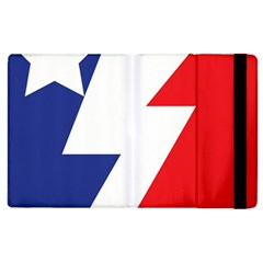 Three Colors Blue White Line Star Apple Ipad 3/4 Flip Case by Mariart