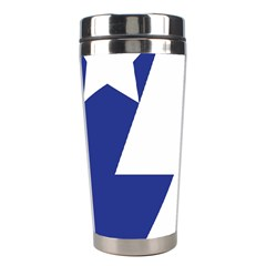 Three Colors Blue White Line Star Stainless Steel Travel Tumblers by Mariart