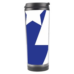 Three Colors Blue White Line Star Travel Tumbler by Mariart