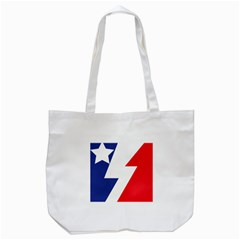 Three Colors Blue White Line Star Tote Bag (white) by Mariart