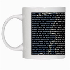 Sherlock Quotes White Mugs by Mariart