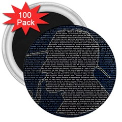 Sherlock Quotes 3  Magnets (100 Pack) by Mariart