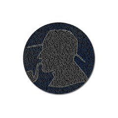 Sherlock Quotes Magnet 3  (round) by Mariart