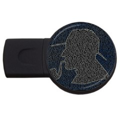 Sherlock Quotes Usb Flash Drive Round (2 Gb) by Mariart