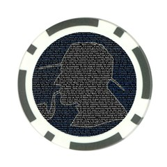 Sherlock Quotes Poker Chip Card Guard by Mariart
