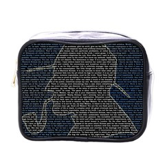 Sherlock Quotes Mini Toiletries Bags by Mariart