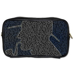Sherlock Quotes Toiletries Bags by Mariart