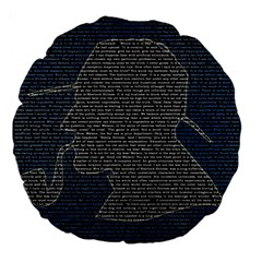 Sherlock Quotes Large 18  Premium Flano Round Cushions by Mariart