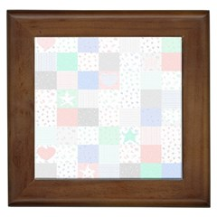 Sweet Dreams Rag Quilt Framed Tiles