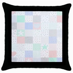 Sweet Dreams Rag Quilt Throw Pillow Case (black) by Mariart