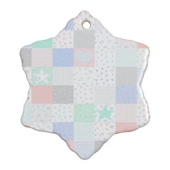 Sweet Dreams Rag Quilt Ornament (snowflake) by Mariart