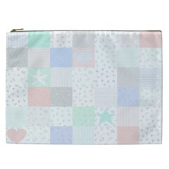 Sweet Dreams Rag Quilt Cosmetic Bag (xxl)  by Mariart